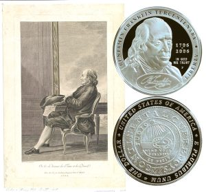 Franklin Founding Father Commemorative Silver Dollar Coin