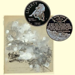 Civil War Commemorative Silver Dollar Coin