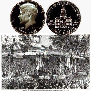 Bicentennial Kennedy Half Dollar Coin