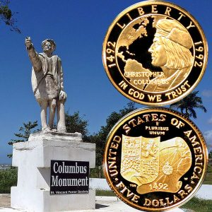 Columbus Commemorative Gold Five-Dollar Coin