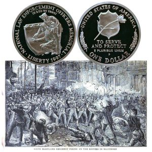 National Law Enforcement Commemorative Silver Dollar Coin