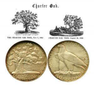 Connecticut Tercentenary Commemorative Silver Half Dollar Coin