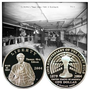 Thomas Edison Commemorative Silver Dollar Coin