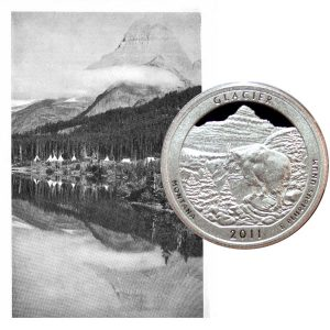 Glacier National Park Quarter Coin