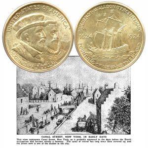Huguenot-Walloon Commemorative Silver Half Dollar Coin