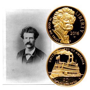 Mark Twain Commemorative Gold Five-Dollar Coin