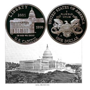 Capitol Visitor Center Commemorative Silver Dollar Coin