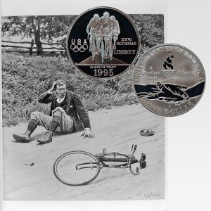 Olympic Cycling Commemorative Silver Dollar Coin