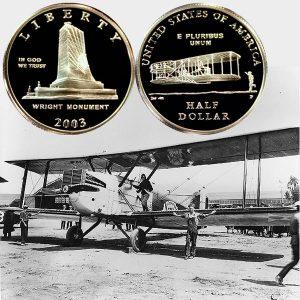 First Flight Commemorative Half Dollar Coin