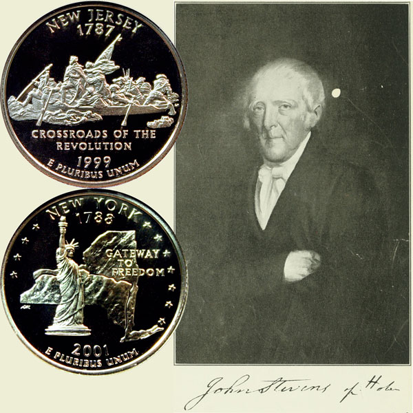 New York and New Jersey State Quarter Coins