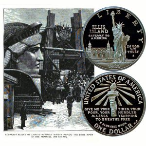 Statue of Liberty Commemorative Silver Dollar Coin