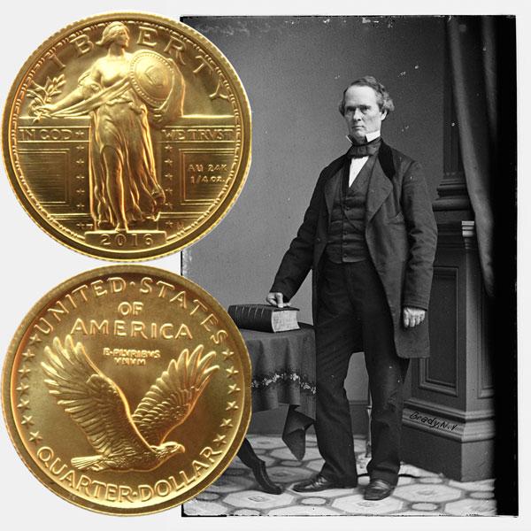 Standing Liberty Gold Quarter Coin