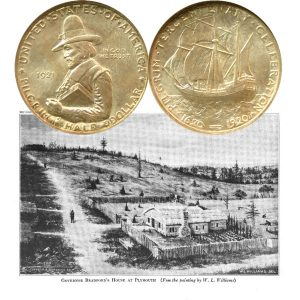 Pilgrim Tercentenary Commemorative Silver Half Dollar Coin
