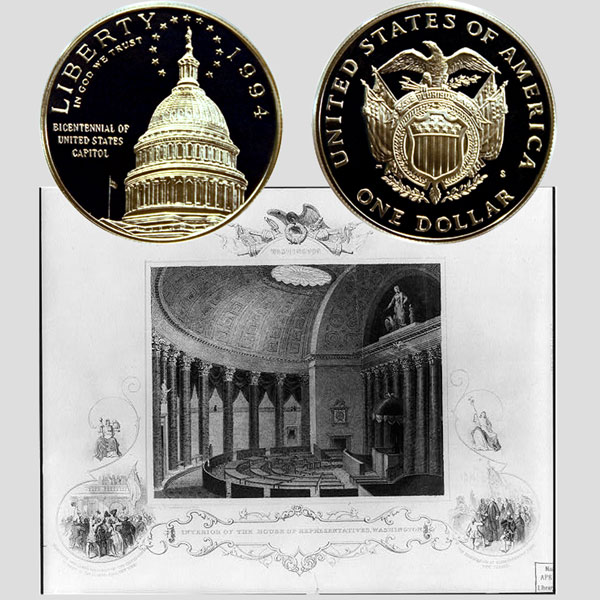 U.S. Capitol Commemorative Silver Dollar Coin