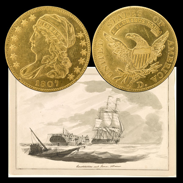 Draped Bust Gold Five-Dollar Coin