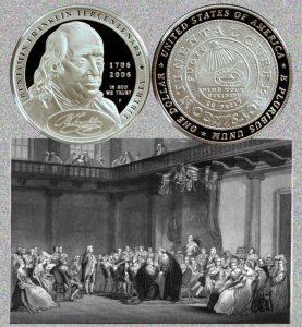 Benjamin Franklin Founding Father Commemorative Silver Dollar Coin