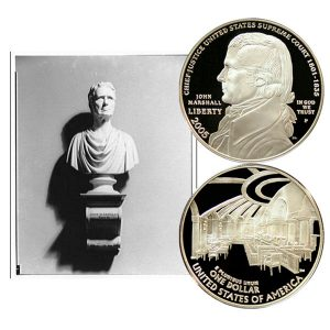 Chief Justice John Marshall Commemorative Silver Dollar Coin