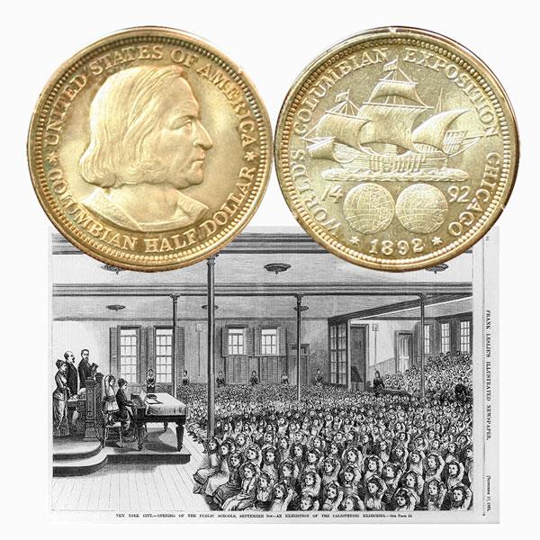 Columbian Exposition Commemorative Silver Half Dollar Coin