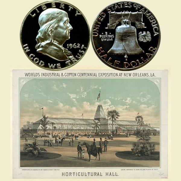 Benjamin Franklin Silver Half Dollar Coin