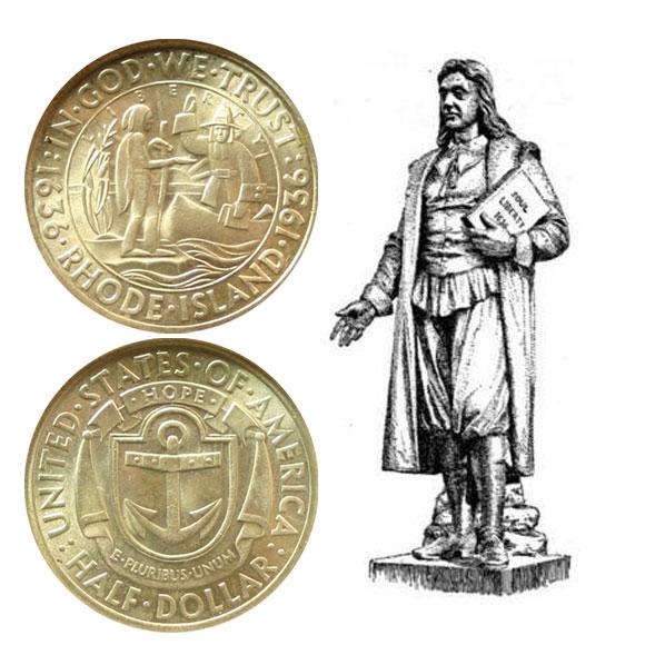 Rhode Island Commemorative Silver Half Dollar Coin