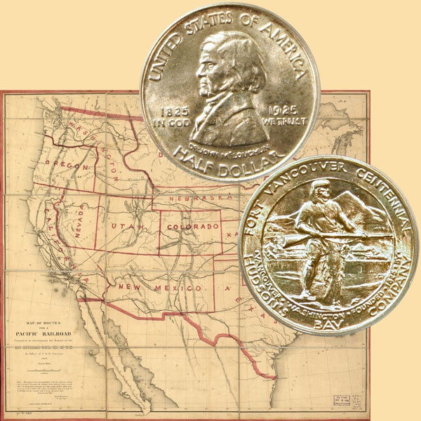 Fort Vancouver Commemorative Silver Half Dollar Coin
