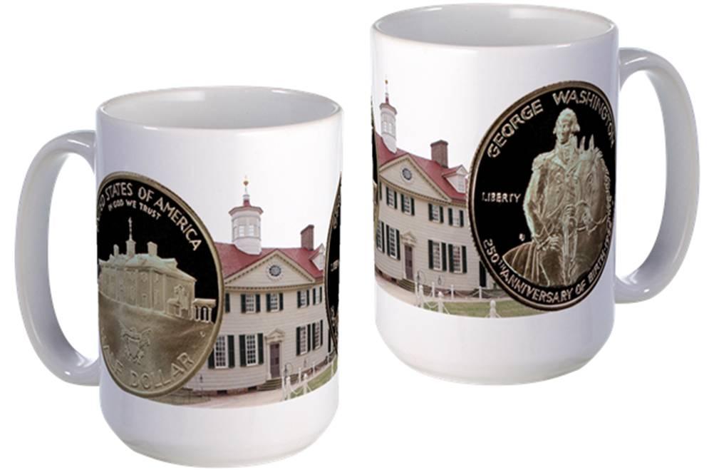 George Washington Half Dollar large mug