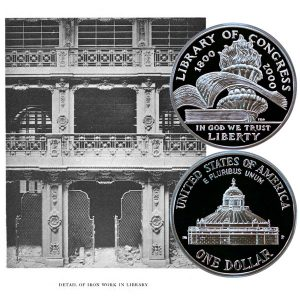 Library of Congress Commemorative Silver Dollar Coin