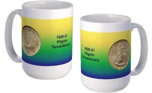 Pilgrim Tercentenary large mug