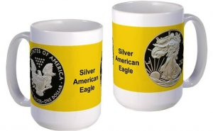Silver American Eagle large mug