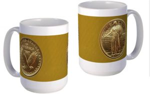 Standing Liberty Gold Quarter large mug