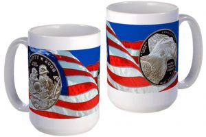 Bald Eagle Half Dollar large mug