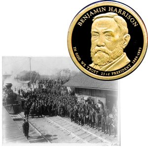 Benjamin Harrison Presidential One Dollar Coin