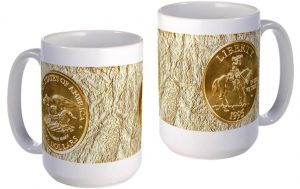 Civil War Gold Five-Dollar large mug