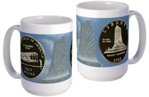 First Flight Half Dollar large mug