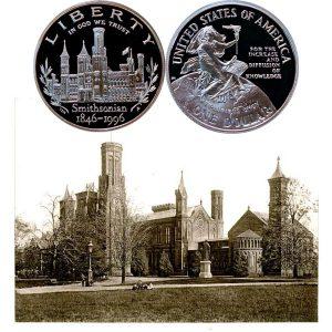 Smithsonian Commemorative Silver Dollar Coin