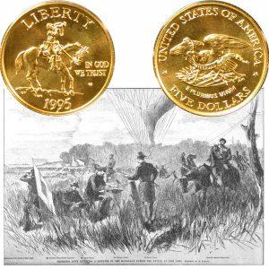 Civil War Commemorative Gold Five-Dollar Coin