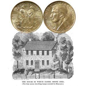 Daniel Boone Commemorative Silver Half Dollar Coin