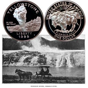 Yellowstone Commemorative Silver Dollar Coin