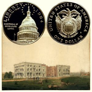 U. S. Capitol Commemorative Silver Dollar Coin