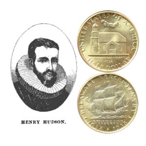 Delaware Tercentenary Commemorative Silver Half Dollar Coin