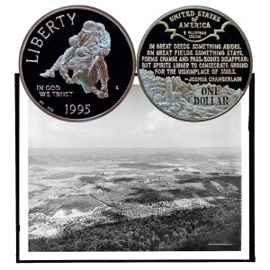 Civil War Battlefield Commemorative Silver Dollar Coin