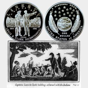 Lewis & Clark Commemorative Silver Dollar Coin
