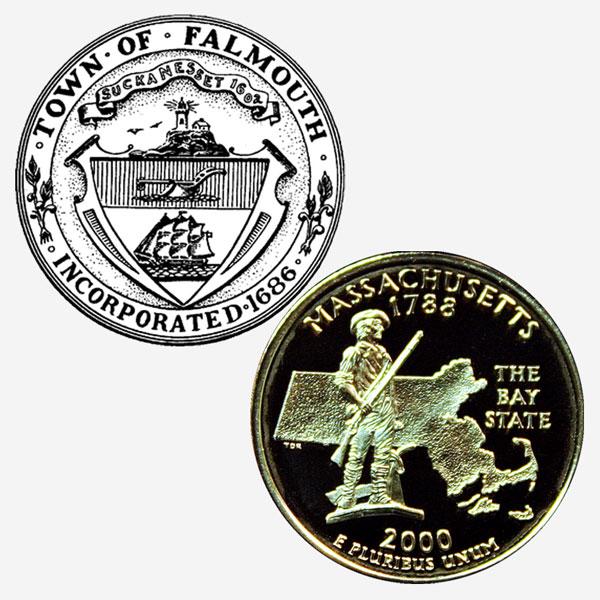 Massachusetts State Quarter Coin