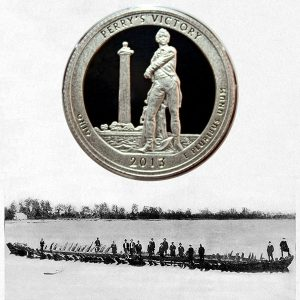 America the Beautiful Perry's Victory and International Peace Memorial Quarter Coin