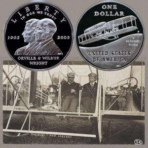 First Flight Commemorative Silver Dollar Coin