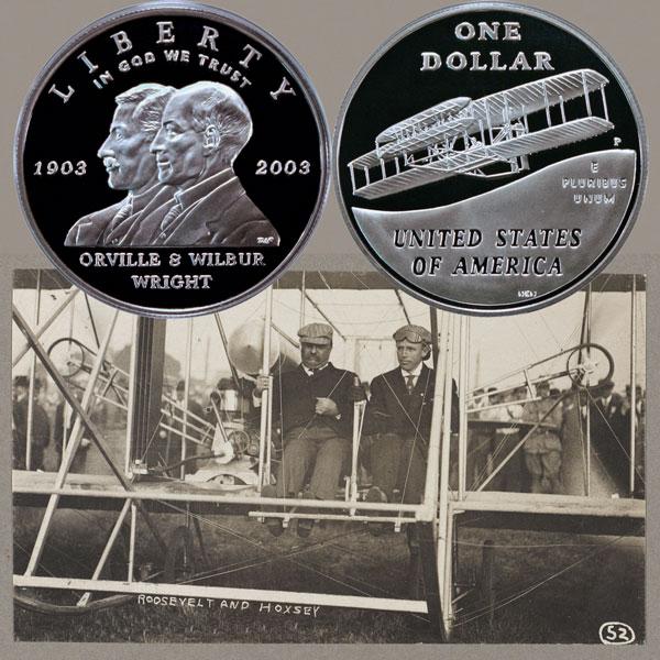 First Flight Commemorative Silver Dollar Coin
