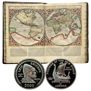 Leif Ericson Millennium Commemorative Silver Dollar Coin