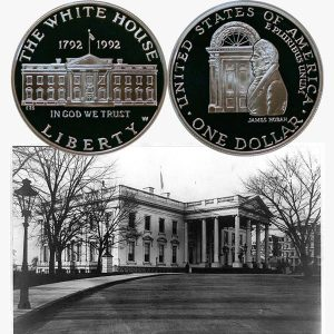 White House Commemorative Silver Dollar Coin