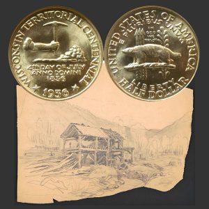 Wisconsin Territory Commemorative Silver Half Dollar Coin