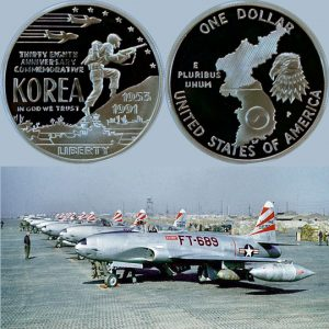 Korean War Commemorative Silver Dollar Coin